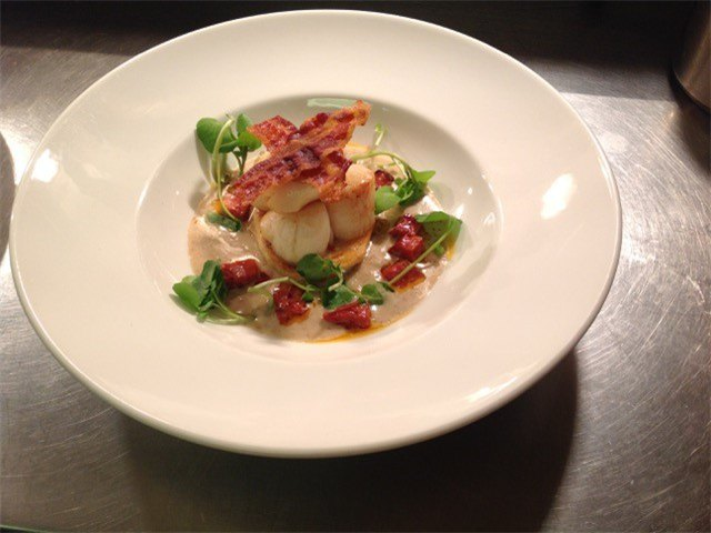 scallops and pancetta